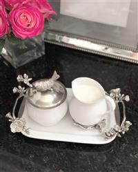Jeana F. verified customer review of Stoneware Creamer Set - Pewter Song Bird