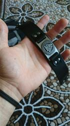 David Straley verified customer review of Leather Viking Vegvisir Arm Cuff