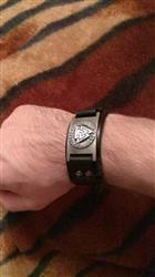Marie Broom verified customer review of Leather Viking Vegvisir Arm Cuff