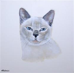Jane W. verified customer review of Hand Painted Portrait - 1 Cat