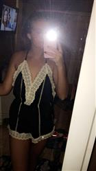 Abbey C. verified customer review of gypsy lace romper | black