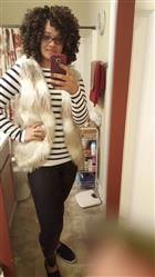 Yvonne H. verified customer review of wild child faux fur vest