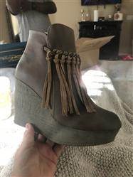 Paula O. verified customer review of sbicca vintage collection - zepp wedge fringe ankle bootie - more colors