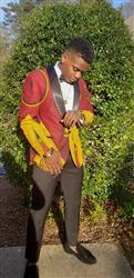 AFRICA W. verified customer review of Rammy Men's African Print Blazer (Burgundy/Gold/Black)