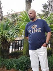 Korea H. verified customer review of Ohene Men's King African Print T-Shirt (Navy)