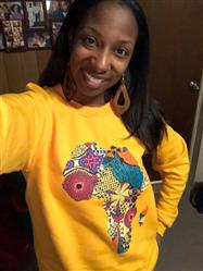 Darlita Y. verified customer review of Akia Women's Africa Sweatshirt (Gold)