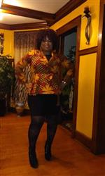 Adrian S. verified customer review of Diola African Print Blazer Peplum (Magenta/Yellow Pinwheels)