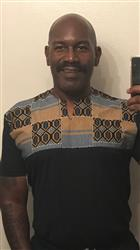 Vernon C. verified customer review of Dayo Men's African Print T-Shirt (Blue/Tan/Navy)