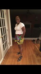 Travonna H. verified customer review of Makena African Print Wide Leg Shorts (Colorful Multipattern)