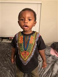 THERESE L. verified customer review of Kid's African Print Dashiki T-Shirt (Black)