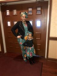 Melissa F. verified customer review of Abina African Print Full Skirt for Little Girls (Aqua Circles)