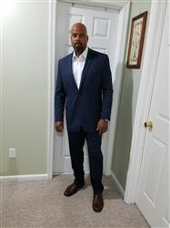 William H. verified customer review of NAVY BLUE TWO BUTTON SUIT