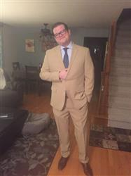 Geoffrey H. verified customer review of TAN TWO BUTTON SUIT