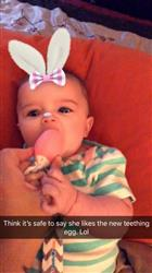Nichole M. verified customer review of The Teething Egg® - Baby Pink