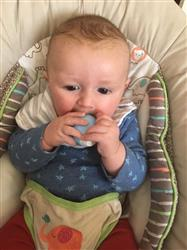 Alison W. verified customer review of The Teething Egg®- Baby Blue