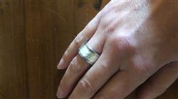 Anonymous verified customer review of Addon argent martelé pour bague personnalisable mood
