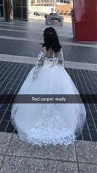 Rachel verified customer review of Long Sleeve Champagne Puffy Lace Flower Girl Dress