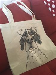 Donna H. verified customer review of Booze the German Shorthaired Pointer - Tote