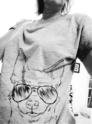 Patricia B. verified customer review of Amos - Aviator Chihuahua - Tri-Blend Women's Dolman Shirt
