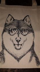 Debbie S. verified customer review of Koda the Husky - Tote