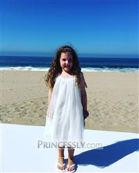 Courtney Adams verified customer review of Lace Cap Sleeves Boho Beach Ivory Chiffon Flower Girl Dress