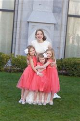 Jocelyn Campbell verified customer review of Coral Lace Tulle Cap Sleeve Flower Girl Dress