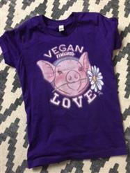 Julia R. verified customer review of Vegan Mean Love Youth Short Sleeve T-shirt