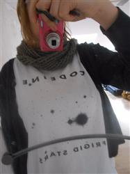 Noemie D. verified customer review of CODEINE Frigid Stars Shirt