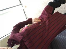 Melanie A. verified customer review of Burgundy Striped Button Down Tunic Top - CLEARANCE