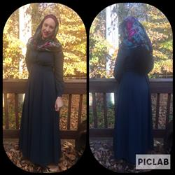 Catherine C. verified customer review of Teal Lattice Abaya Maxi Dress