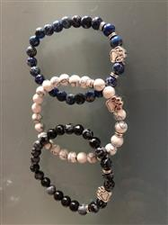 Gaynelle S. verified customer review of Assorted Mala Bead Bracelets with Paw Print Charm for Men and Women