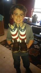 Ashley C. verified customer review of Old West USA Flag Youth Boys Leather Brown Cowboy Boots