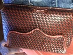 Luis C. verified customer review of 3D Tan Leather Smartphone Holder Basketweave Contrast Stitching