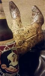 Heather D. verified customer review of Corral Boots Womens Leather Python Inlay Brown Cowgirl