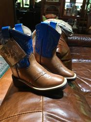 Kathy W. verified customer review of Old West Tan Canyon Toddler Boys Corona Calf Leather Comfort Cowboy Boots