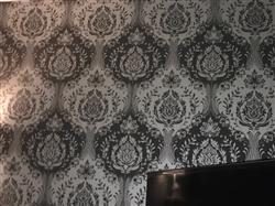 Emaa S. verified customer review of Arthouse Vintage Glitter Berkeley Damask Silver Wallpaper