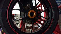 HENRIQUE A. verified customer review of MV Agusta Rear Wheel Axle Nuts Kit CNC Racing