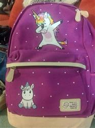 Thompson verified customer review of Dabbing Unicorn Canvas Backpack