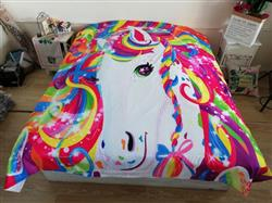 Anonymous verified customer review of 3-Piece Rainbow Majesty Unicorn Duvet Cover Set