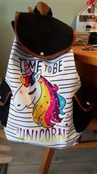 V***s verified customer review of Time To Be a Unicorn Canvas Rucksack Backpack