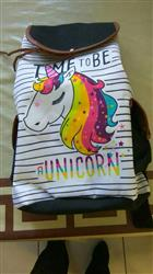 Natalia O. verified customer review of Time To Be a Unicorn Canvas Rucksack Backpack