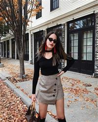 Andjela Simsic verified customer review of Asymmetrical Woolen Wrap Skirt in Mocha