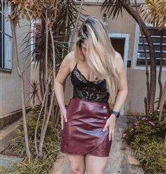 Bruna  verified customer review of Faux Leather Or Worse Cropped Jacket in Burgundy