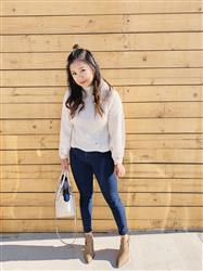 April A. verified customer review of Hole The Phone Turtleneck Sweater in Oatmeal