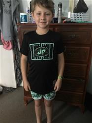 Leah S. verified customer review of Youth Crushing The Gridiron III Performance Tee
