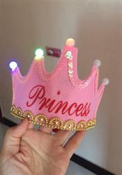 Michell verified customer review of PROLOSO 10 Pack Birthday Hats Luminous Party Caps Flashing LED Princess King Crowns