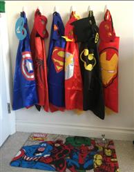 John verified customer review of PROLOSO Superhero Capes Dress Up Costumes for Kids Set of 5 with Felt Masks