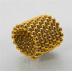 Daniel verified customer review of PROLOSO Buckyballs Magnetic Ball Sculpture Toys for Intelligence Development and Stress Relief (5MM Set of 216 Balls), Gold/Sliver