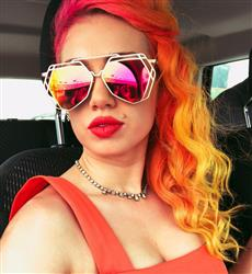 Skye S. verified customer review of Arrest Me Sunnies - Sunset (Red - Orange Lens)