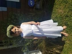 sarah b. verified customer review of White Lace Slip Dress
